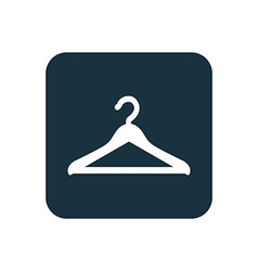 Hanger icon rounded squares button vector