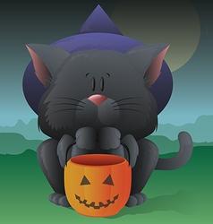 Halloween kitty vector