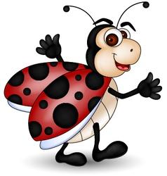 Happy ladybug vector