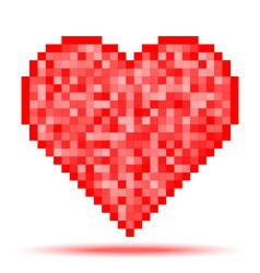 Heart pixel icon vector