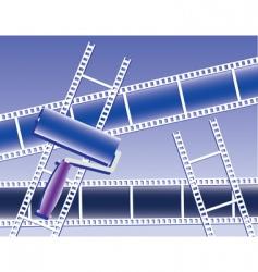 Paint film set vector