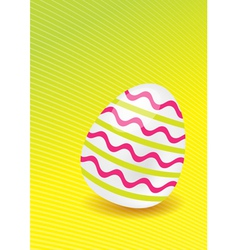 Easter egg with lines vector