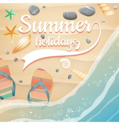 Summer holidays template plus eps10 file vector