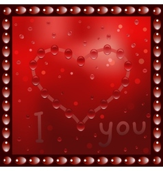 Painted heart on the window vector
