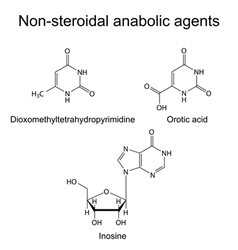 Structures of non-steroidal anabolic compounds vector