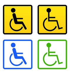Disabled wheelchair sign vector