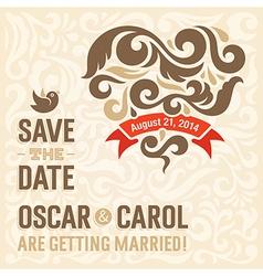 Wedding invitation 2 vector