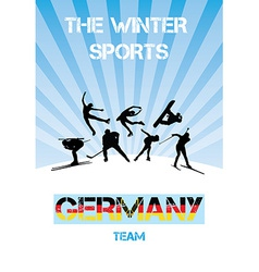 The winter sports germany team vector