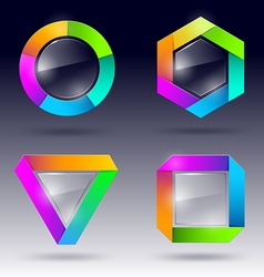 Glass design element vector