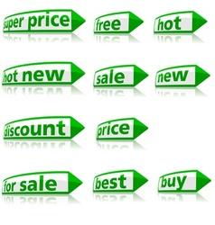 Business labels vector