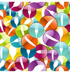 Restaurant icon pattern background vector
