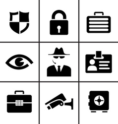 Security and safety icons set vector