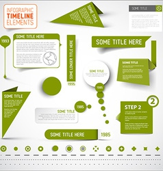 Green infographic timeline elements template vector