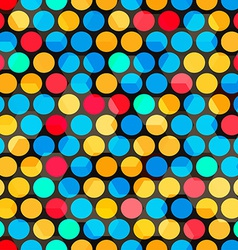 Abstract color bubbles seamless vector