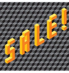 Single word sale made of cubes vector