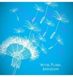 Overblown dandelion background vector