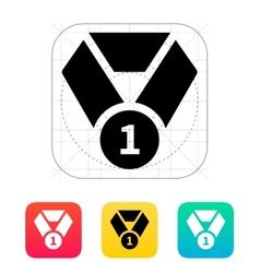 Medal icon vector