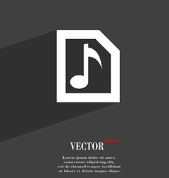 Audio mp3 file icon symbol flat modern web design vector
