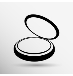 Palette liquid lipsticks flat square icon with vector
