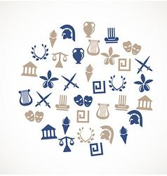 Greece symbols vector