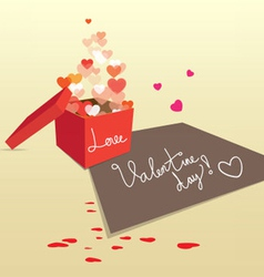 Gift box for valentine sweet love vector
