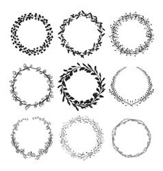 Laurel wreaths isolated vector