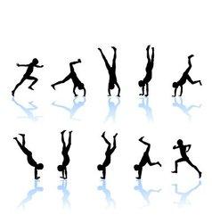 The boy somersault vector