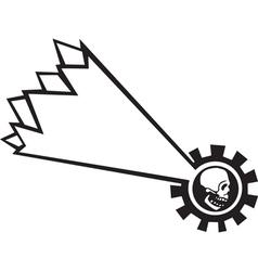 Shooting star skull vector