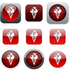 Icecream red app icons vector