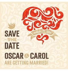 Wedding invitation 3 vector