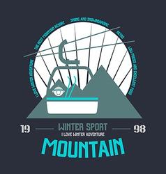Mountain winter sport emblem vector
