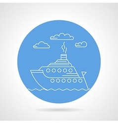 Cruise ship blue icon vector