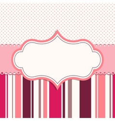 Pink frame for greeting card vector