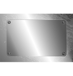 Metal frame with screws vector