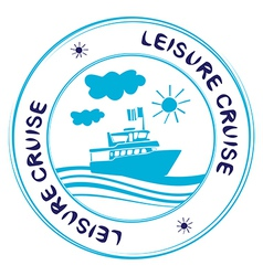 Leisure cruise vector
