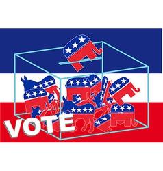 Vote republican vector