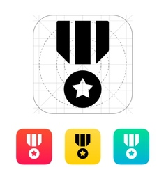 Military medal icon vector