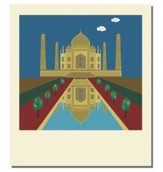 Taj mahal photo vector