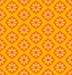 Laithai flower texture yellow pattern vector