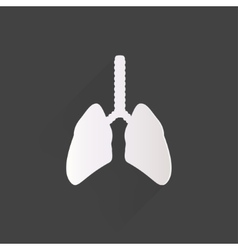 Human lung icon medical background health care vector