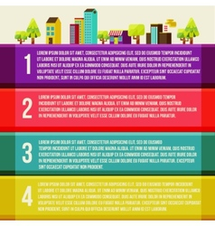 Banners with city city of info graphics vector