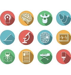 Colored icons for neurosurgery vector