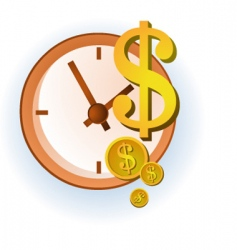 Time and dollars vector