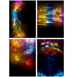 Set of abstract rainbow backgrounds vector