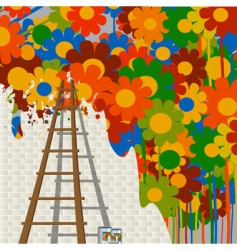 Mural painting vector