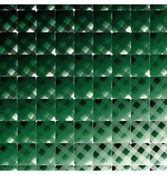Retro style square and stripes dark green b vector