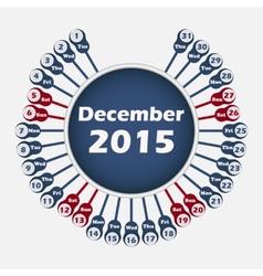 Calendar 2015 december template vector
