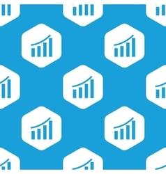 Financial graphic hexagon pattern vector