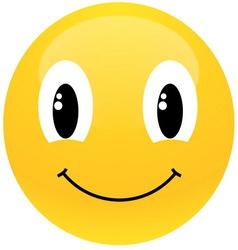 Yellow smiley vector