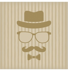 Hipsters hat glasses moustache vector